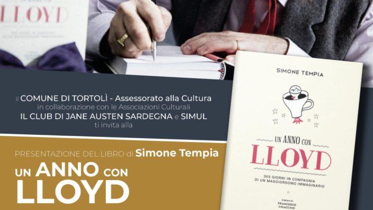 LO SCRITTORE SIMONE TEMPIA TORNA IN SARDEGNA CON LLOYD, IL CELEBRE MAGGIORDOMO IMMAGINARIO