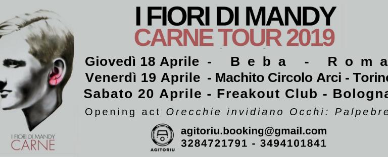 Mini Tour per i sardi Fiori Di Mandy. Tre date a Roma, Torino e Bologna
