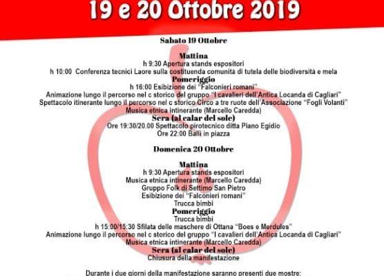 """Il 19 e il 20 ottobre a Ussassai la XXIII^ Edizione della """"Sagra della Mela"""""""