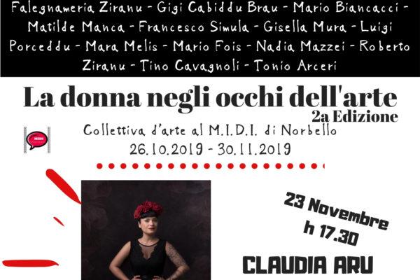 Claudia Aru al MIDI di Norbello in occasione della Giornata Internazionale contro la Violenza sulle donne