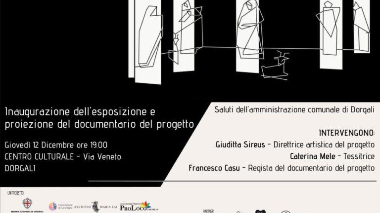 L'opera tessile ANDANDO VIA. OMAGGIO A GRAZIA DELEDDA in mostra a Dorgali dal 12 al 18 dicembre
