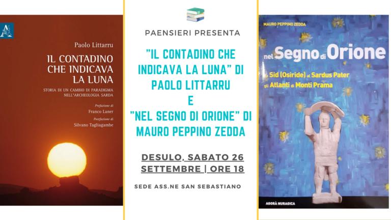 A Desulo, presentazione dei libri di Paolo Littarru e di Mauro Peppino Zedda