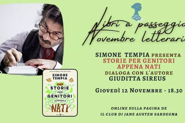 """Club di Jane Austen Sardegna: proseguono gli incontri online del """"NOVEMBRE LETTERARIO"""""""