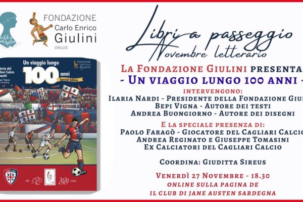 Club di Jane Austen Sardegna. La storia del Cagliari Calcio protagonista dell'ultimo appuntamento del Novembre Letterario