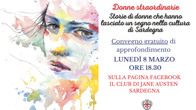 """""""Donne straordinarie"""": l'8 marzo un convegno organizzato dal Club di Jane Austen Sardegna"""