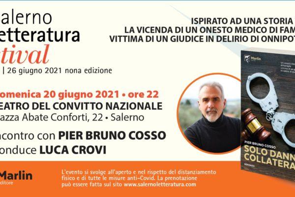 """Lo scrittore Pier Bruno Cosso al """"Salerno Letteratura Festival"""""""