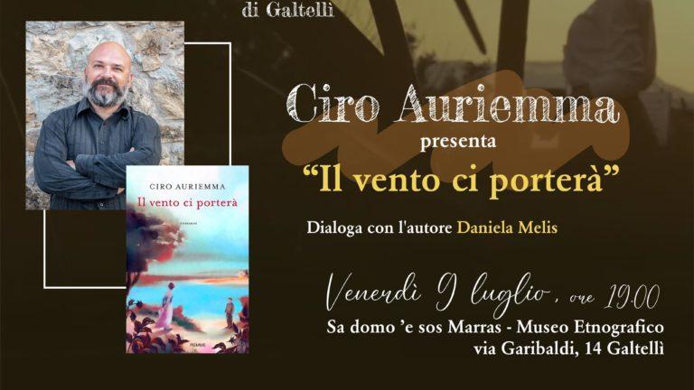 Ciro Auriemma domani, 9 luglio, a Galtellì